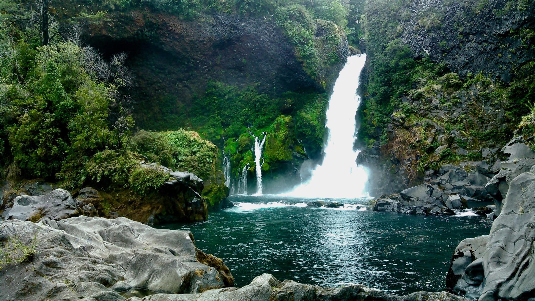 Huilo-Huilo Waterfall