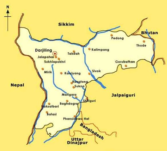 Darjeeling Tourism Map